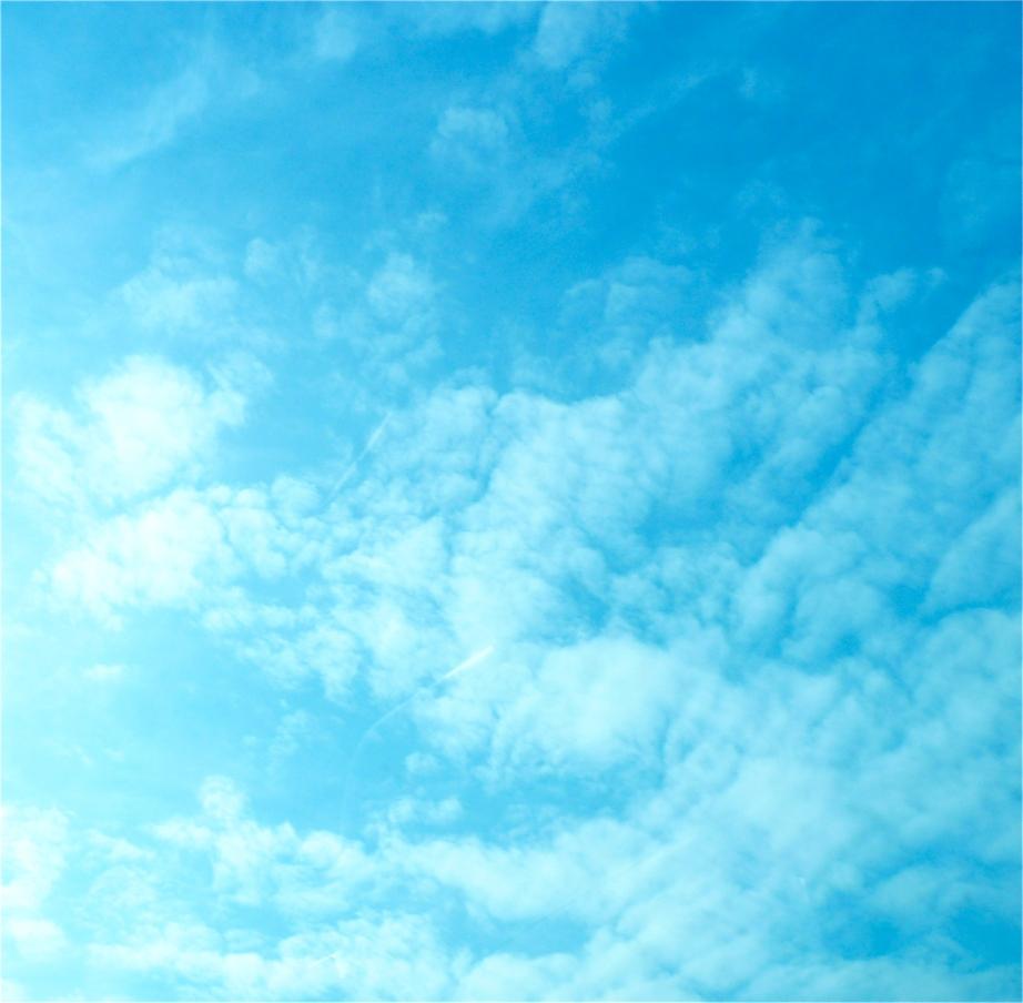 Le ciel bleu de ce week-end
