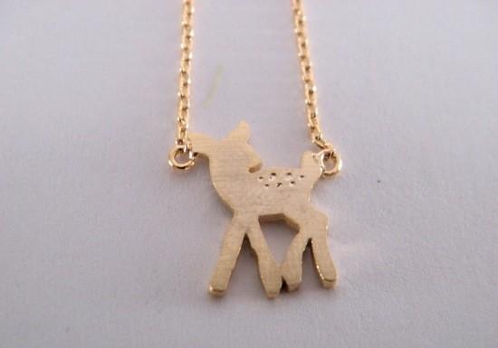 collier-bambi-faon-dore-fantaisie